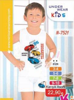 N-7521 ERKEK ÇOCUK ŞORTLU TAKIM