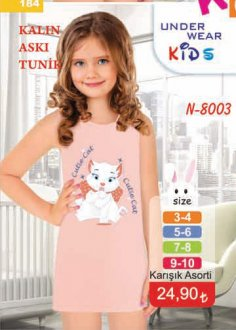 N-8003 KALIN ASKILI KIZ ÇOCUK TUNİK