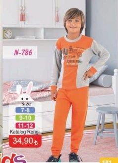 N-786 ERKEK ÇOCUK PİJAMA TAKIMI