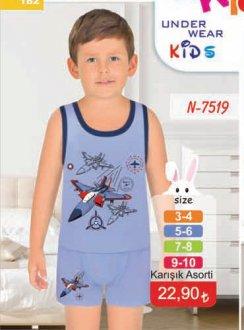 N-7519 ERKEK ÇOCUK ŞORTLU TAKIM